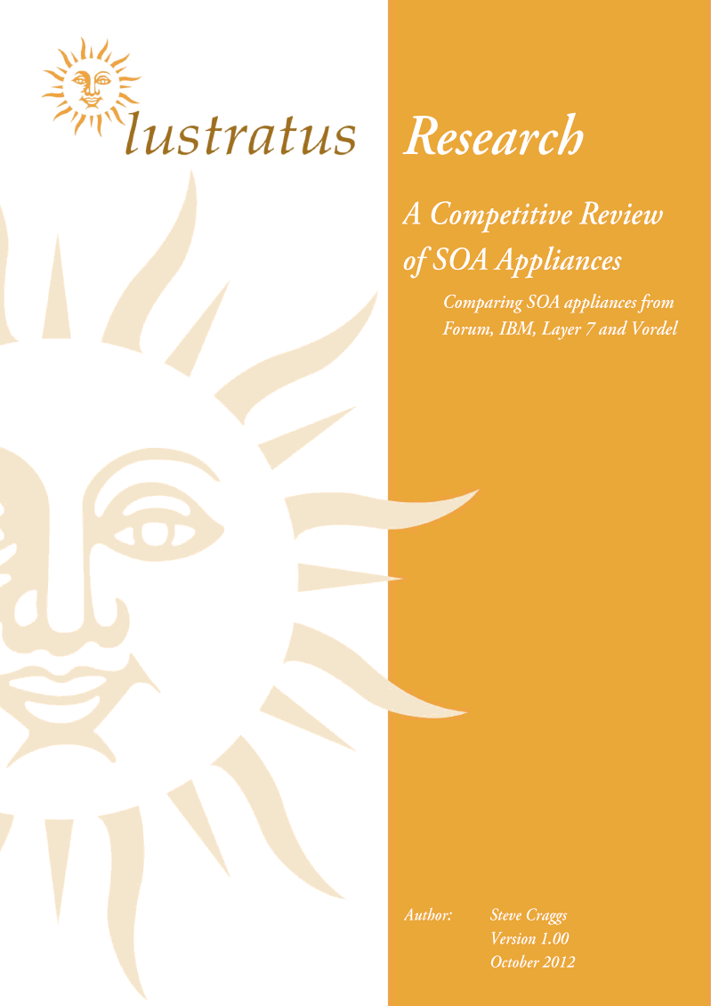 A Competitive Review of SOA Appliances