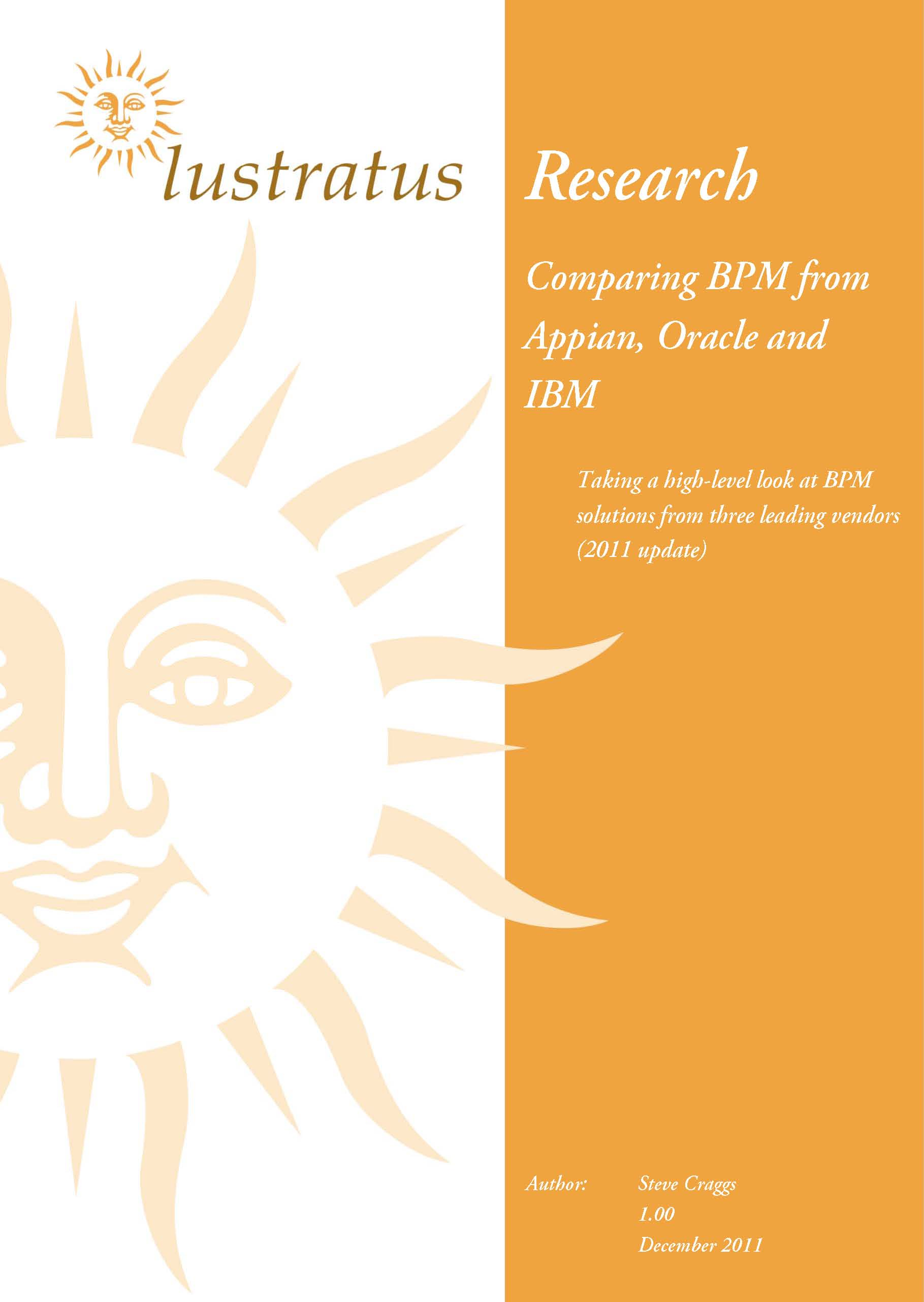 BPM review of Appian, Oracle and IBM 2011 unlocked 1