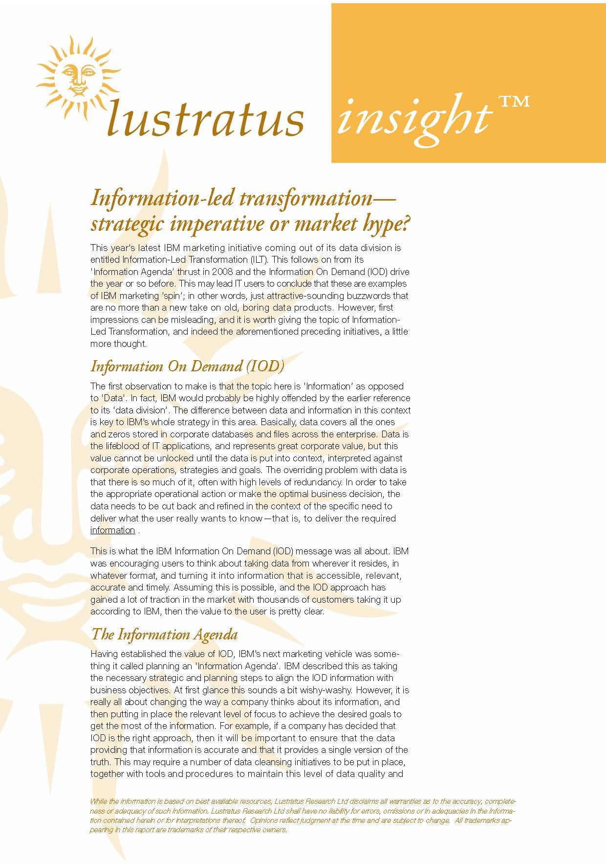 Pages from Information-led Transformation