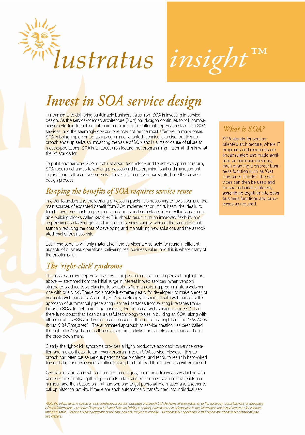 Pages from Invest in SOA Service Design