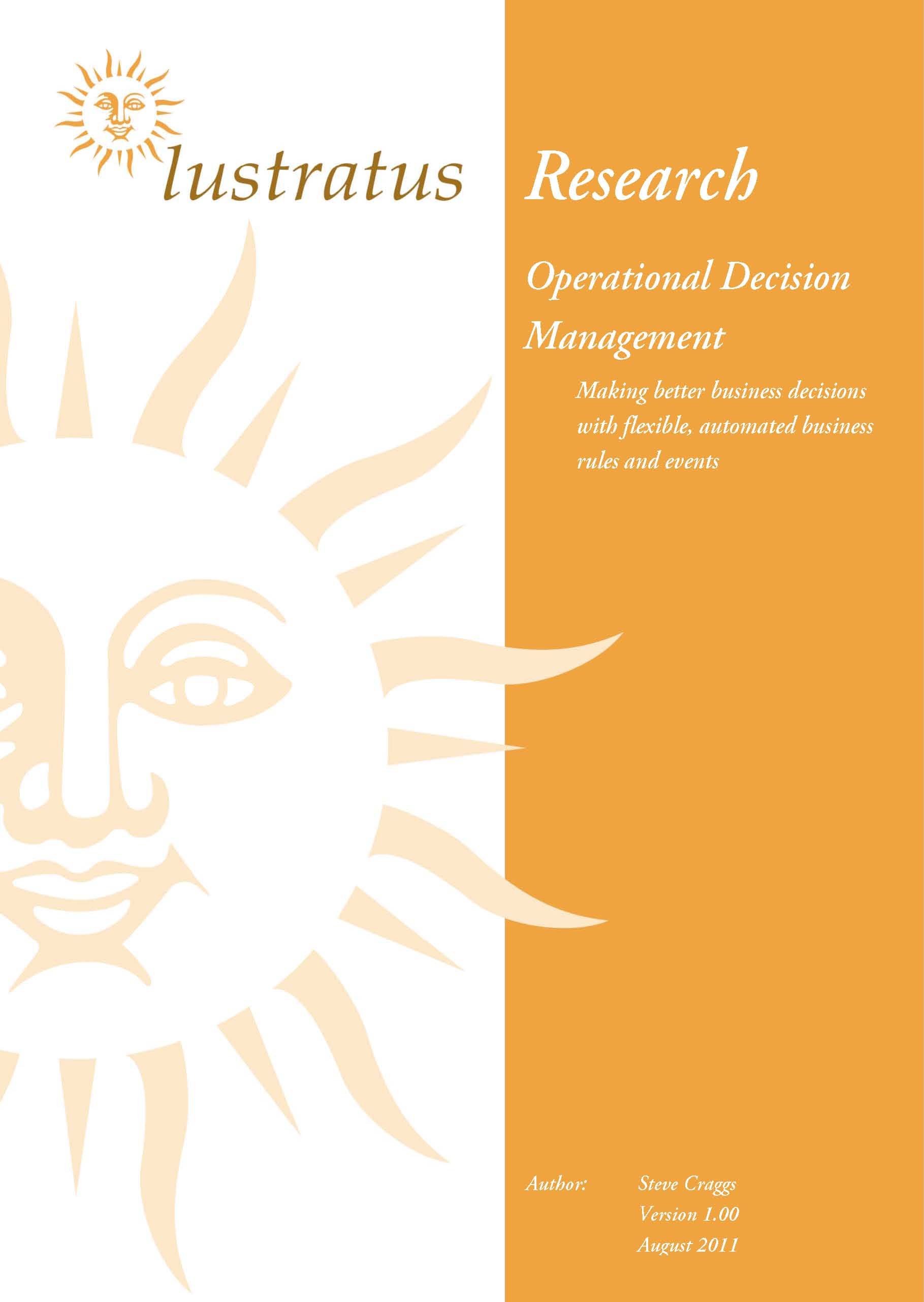 Pages from Operational Decision Management unlocked