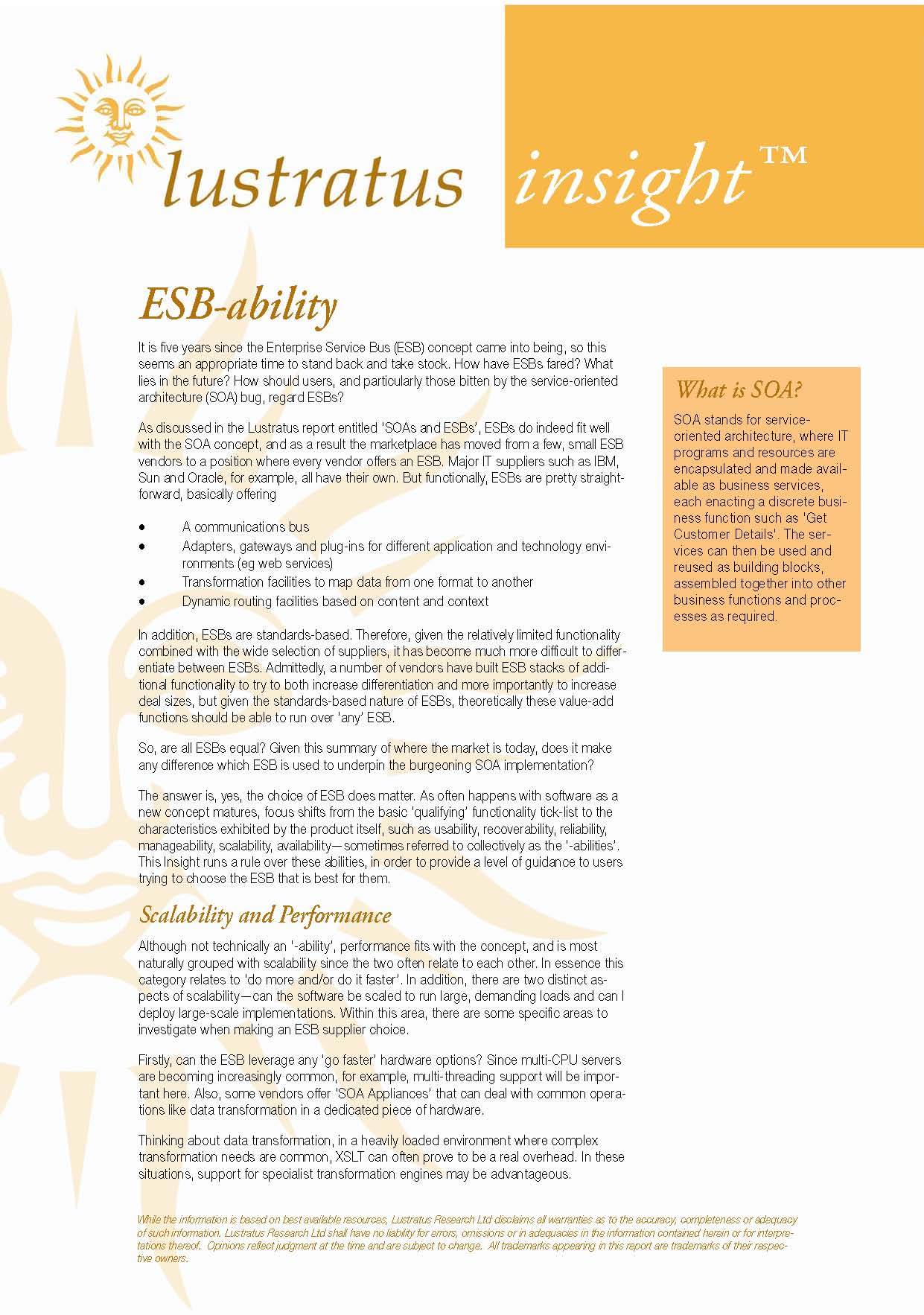 Pages from The Year of ESB-ability