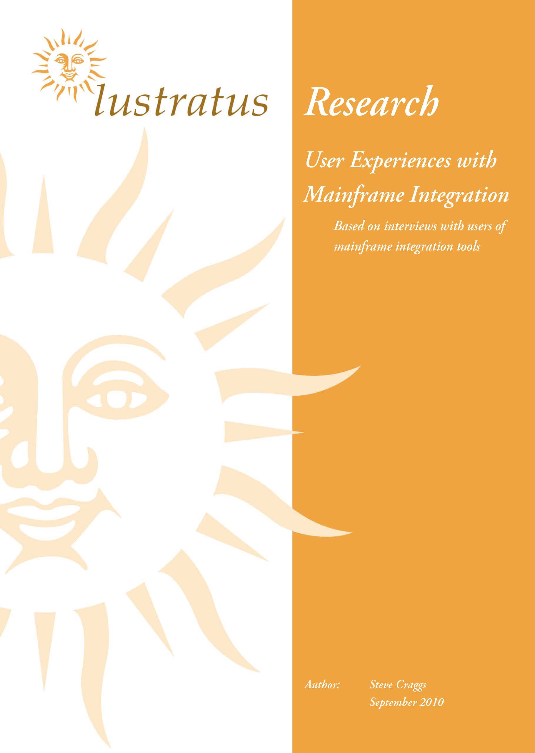 Pages from User Experiences with Mainframe Integration