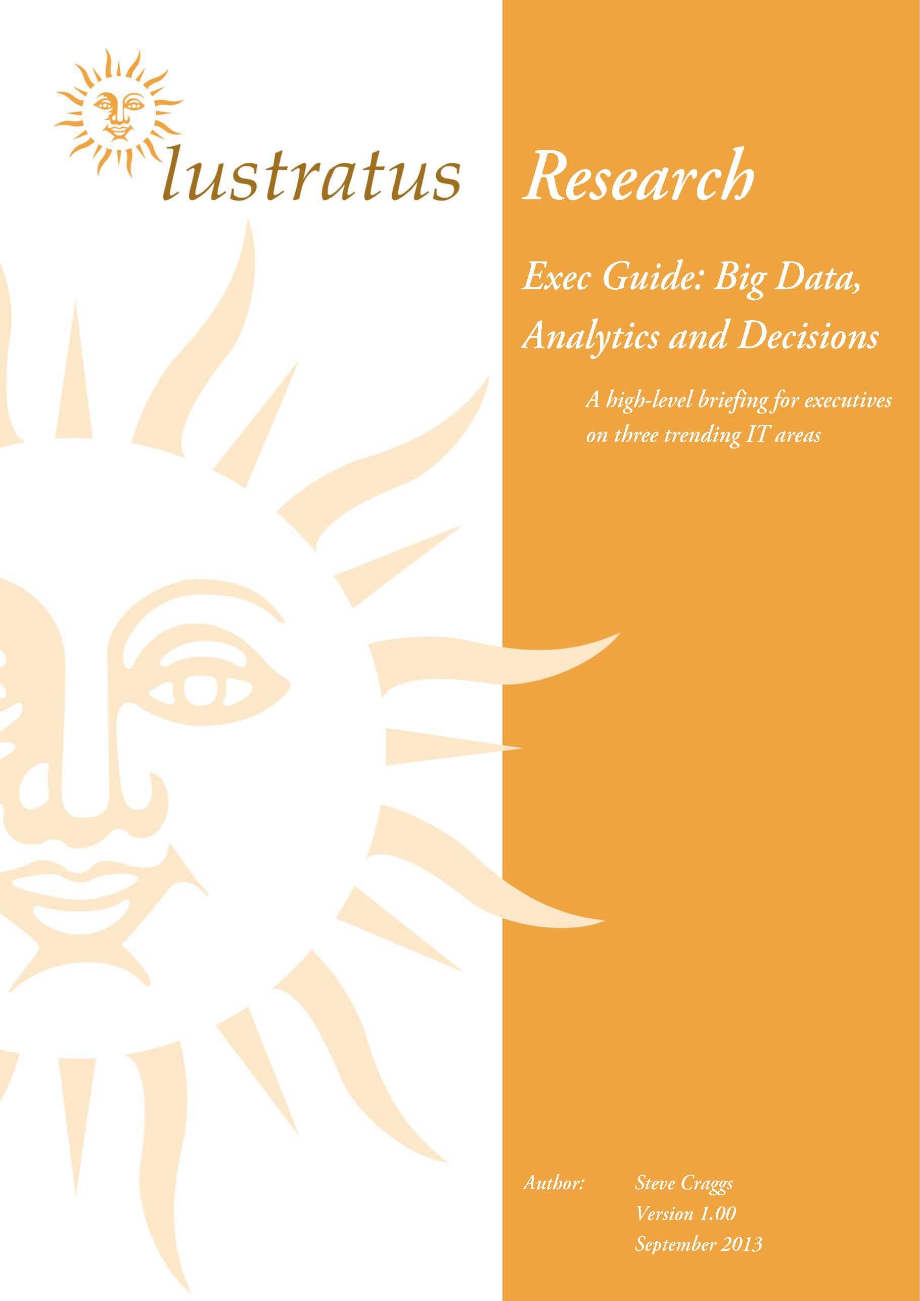 Exec Guide - Big Data, Analytics and Decisions
